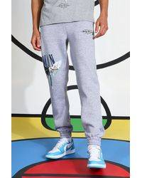 BoohooMAN - Tall Eagle Printed Jogger - Lyst