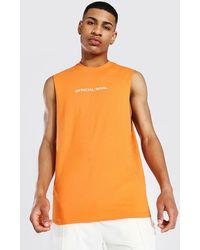BoohooMAN Official Man vesttop mit weiten Ärmeln - Orange