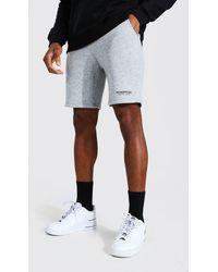 BoohooMAN Man Official Waistband Slim Mid Jersey Short - Grey