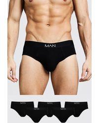 BoohooMAN 5 Pack Man Dash Briefs - Black