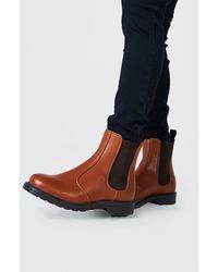 BoohooMAN Leather Look Chelsea - Multicolour