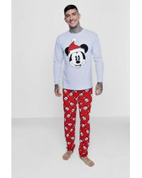 Boohoo - Disney Mickey Christmas Pyjamas - Lyst