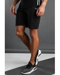 BoohooMAN Man Active Cargo Shorts - Black