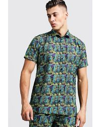 BoohooMAN - Snake Print Short Sleeve Shirt - Lyst