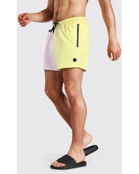 BoohooMAN Ombre Short Length Swim Short - Yellow