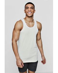 BOOHOOMAN MUSCLE FIT RACER BACK VEST WITH CONTRAST YOKE - Top - grey wcmgBKnm