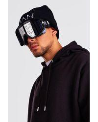 BoohooMAN Man Mirror Lens Ski Goggles - Black