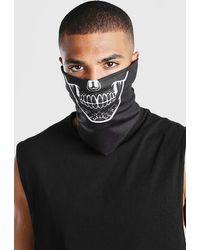 BoohooMAN Man Skeleton Snood - Black