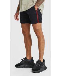 BoohooMAN Skinny Fit Chino-Shorts mit Seitenband - Mehrfarbig