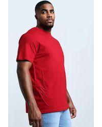 BoohooMAN Big & Tall - T-shirt Avec Signature 3d Man - Red