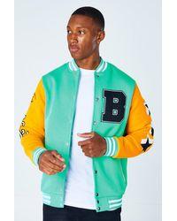 BoohooMAN Limited Jersey-Bomberjacke - Grün