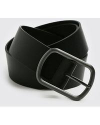 BoohooMAN Faux Leather Belt - Black