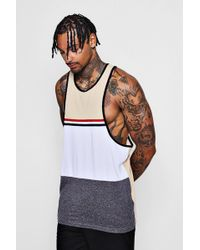 Boohoo - Colour Block Raver Vest With Tape - Lyst