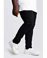 BoohooMAN Big & Tall Slim Fit Rigid Jean - Black