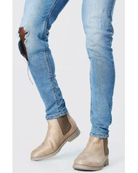 BoohooMAN Faux Suede Chelsea Boots - Multicolore