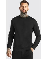 BoohooMAN Basic Crew Neck Sweatshirt - Black