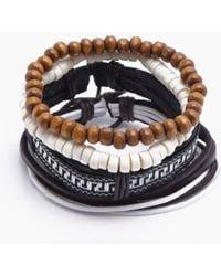 Boohoo - Aztec Woven Stack Bracelet - Lyst