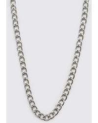 BoohooMAN Chain Necklace With T Bar And Toggle Detail - Gray