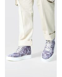 BoohooMAN Chaussures montantes camouflage - Blanc