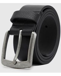 BoohooMAN Casual Faux Leather Jeans Belt - Black