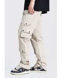BoohooMAN Tall Relaxed Fit Twill Cargo Trouser - Mehrfarbig