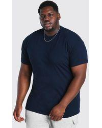 BoohooMAN Big And Tall Basic Crew Neck T-shirt - Blue
