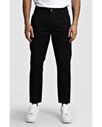 BoohooMAN Slim Fit Rigid Chino Pants - Black