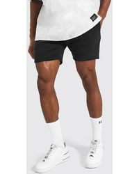 BoohooMAN Basic Short Length Slim Jersey Shorts - Noir