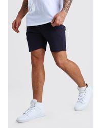 BoohooMAN Short chino skinny stretch - Bleu