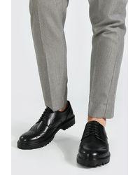 BoohooMAN Leather Look Classic Brogue - Black