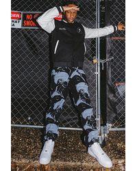 BoohooMAN Gerade Jeans mit Roboter-Print - Schwarz