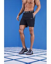 BoohooMAN - Gym Man Waistband Shorts - Lyst