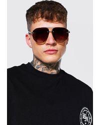 BoohooMAN Contrast Frame Fashion Glasses - Black