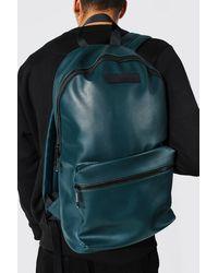 BoohooMAN Leather Look Rucksack - Green