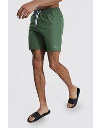 BoohooMAN - Tall Man Signature Mid Length Swim Short - Lyst
