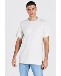 BoohooMAN Longline Crew Neck T-shirt - White
