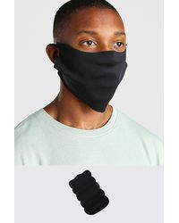 BoohooMAN 5 Pack Plain Fashion Masks - Black