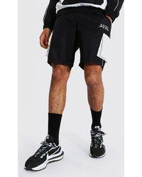 BoohooMAN Farblich abgestimmte Shorts mit Gummi-Branding - Schwarz