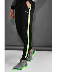BoohooMAN - Skinny Joggers With Reflective Piping - Lyst