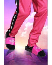 BoohooMAN Burna Boy Slider - Pink