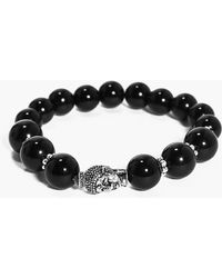 Boohoo - Buddha Head Bracelet - Lyst