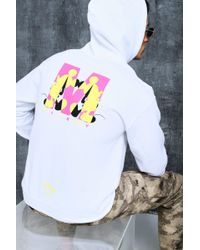 77eb7604 Kappa X Disney Authentic Abel Graphic Hooded Sweatshirt in White for ...