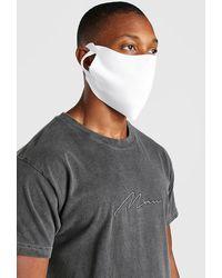 BoohooMAN Lot de 3 masques mode unis - Noir