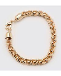 BoohooMAN Rope Chain Bracelet - Metallic