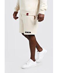 BoohooMAN Big & Tall Regular Fit Man Branded Short - Multicolor