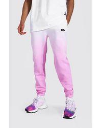 BoohooMAN Tall Regular Man Ombre Dye Jogger - Pink