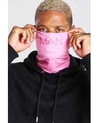 BoohooMAN Man Dash Fashion Snood - Pink