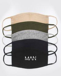 BoohooMAN Lot de 5 masques mode multi MAN Dash - Multicolore