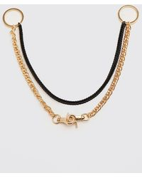 BoohooMAN Contrast Colour O Ring Necklace - Mettallic