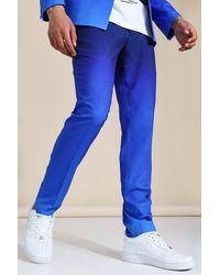 BoohooMAN Skinny Blue Ombre Suit Trousers - Bleu